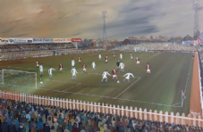 York City v Aston Villa 1974  20'' x 30'' Box Canvas